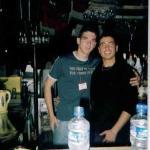 Erdinc and Deniz working in the Bar.