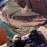 Horseshoe Bend 1100' Overlook...just up the road