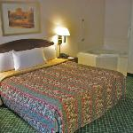 Room 146 King bed and in-room spa