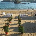 Wedding set up at Gala Beach Resort