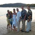 Wedding Party on the sand