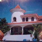 Back view of villa