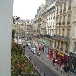 View DOWN rue de la Montagne St. Genevieve, towards St. Michel and Notre Dame