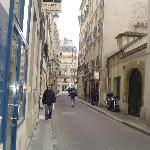 Nearby Rue du Bievre-- leads to ND and the Seine
