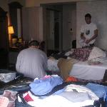 The mess is us packing.......gettting ready to leave.