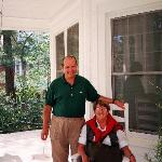 My wife and yours truly relaxing on Southern Elegance's porch
