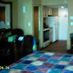 Looking Toward Desk and Kitchen (Sorry Fuzzy) - Dining Table on the Right