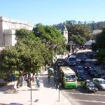 Street traffic in front of O'Higgins Hotel