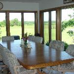 The dining room at Springview B&B, Goshen IN