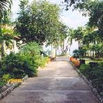 The walk to the resort beachfront