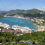 Charlotte Amalie harbor from mountain top