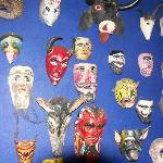 masks near dining room