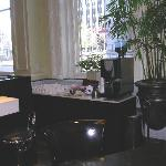 Coffee area in lobby