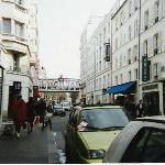 Outside Hotel Printemps - McDonalds, Gap and Monoprix