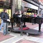Sophisticated buskers in Grafton Street!
