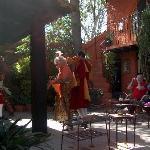 Ruth dancing in courtyard