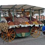 stalls in the main square in Marrakesh