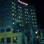 View of the outside at night