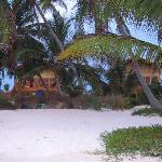 View of villas from beach.