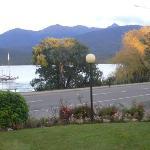 Manicured Gardens Of Kingsgate Hotel & The Tranquility Of Lake Te Anau