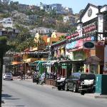 Shops and restaurants along Lopez Mateos