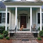 Our Golden on the Main House Front Porch