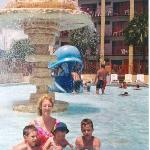The Children's Activity Pool infront of the Surf Building