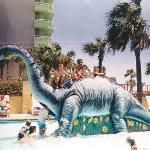 The Dinosaur Slide at the Children's Activity Pool