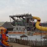 Outside waterpark view and playground