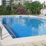 The swiming pool area