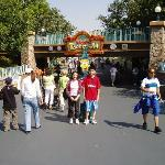 My brother and I in front of Mickey's ToonTown entrance at Disneyland