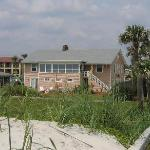 View of inn from the beach