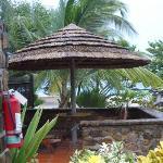 patio of beachfront villa