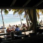 Beach view from Jammers.