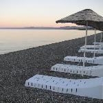 "Assos Park hotel's ""beach"" front."