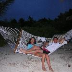 hammocks line the whole beach and there is one for each room