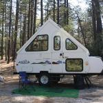 Picture of my trailer at the campground in Mt. San Jacinto