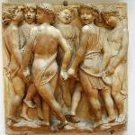 A panel from della Robbia's choir loft