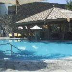 Empty swimming pool and pool bar!!!!