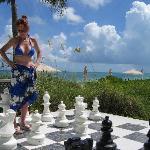 A little chess after breakfast