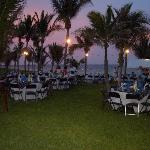 Beachside BBQ dinner