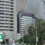View of hotel from further back near MCG