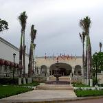 Front entrance of resort