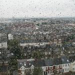 View with inevitable London rain