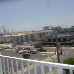 view of boardwalk from our fourth floor balcony