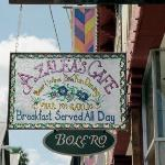 Look for this sign on Aviles Street.  Don't miss the great food and fun decor!