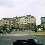 StayBridge Suites full building on Left side