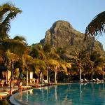 Le Morne backdrop as sun goes down