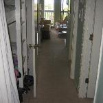 View from foyer - note bunks on left