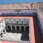 cloisters of Sao Vicenta as viewed from rooftop